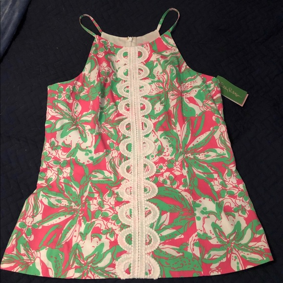 Lilly Pulitzer Tops - Lilly Pulitzer Annabelle Halter Tank top NWT